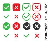 checkmark icons set. tick and...