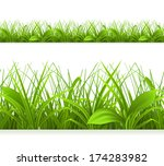 spring green grass  seamless... | Shutterstock .eps vector #174283982