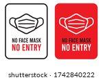 no face mask no entry sign.... | Shutterstock .eps vector #1742840222