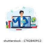 online education  home... | Shutterstock .eps vector #1742840912