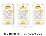 food menu banner social media... | Shutterstock .eps vector #1742878388