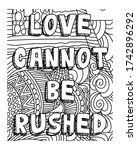 love inspirational coloring... | Shutterstock .eps vector #1742896292