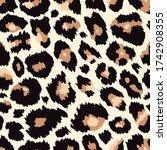 trendy leopard seamless pattern....   Shutterstock .eps vector #1742908355