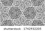 abstract geometric pattern with ... | Shutterstock . vector #1742932205