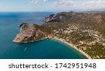 aerial view of the sea and... | Shutterstock . vector #1742951948