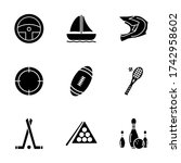 sports and games icon set with...