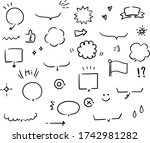 a hand drawn illustration of... | Shutterstock .eps vector #1742981282