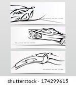 silhouette of car. vector... | Shutterstock .eps vector #174299615