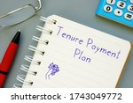 Tenure Payment Plan Sign On The ...