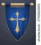 Medieval Vertical Banner With...