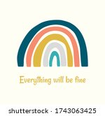 everything will be fine...   Shutterstock .eps vector #1743063425