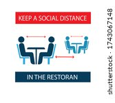 keep a social distance in... | Shutterstock .eps vector #1743067148