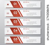 design clean number banners... | Shutterstock .eps vector #174308696