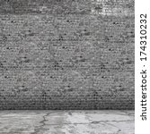 background image of grey brick... | Shutterstock . vector #174310232
