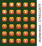 set of mobile game buttons with ...