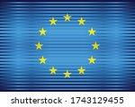 shiny flag of european union  ...   Shutterstock .eps vector #1743129455