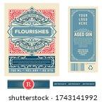 vintage gin label. vector...   Shutterstock .eps vector #1743141992
