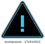 rounded triangle shape hazard... | Shutterstock . vector #174314522