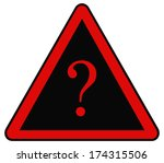 rounded triangle shape hazard... | Shutterstock . vector #174315506