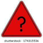 rounded triangle shape hazard... | Shutterstock . vector #174315536