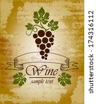 wine label design  | Shutterstock .eps vector #174316112