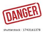 danger rubber stamp. red danger ... | Shutterstock .eps vector #1743161378