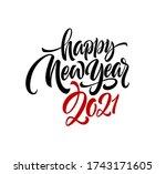 2021 happy new year writing... | Shutterstock .eps vector #1743171605