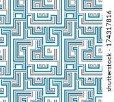 maze seamless pattern  blue... | Shutterstock .eps vector #174317816