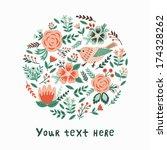 flower card. vector... | Shutterstock .eps vector #174328262