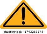 danger icon vector on white... | Shutterstock .eps vector #1743289178