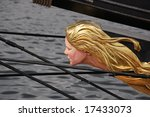 blond lady as figure head on a... | Shutterstock . vector #17433073