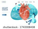 heart check website template ... | Shutterstock . vector #1743308438
