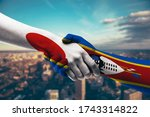 shaking hands japan and...   Shutterstock . vector #1743314822