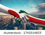 shaking hands japan and eritrea   Shutterstock . vector #1743314825
