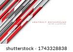 abstract red grey hi tech...   Shutterstock .eps vector #1743328838