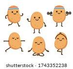 cute cartoon couch potato... | Shutterstock .eps vector #1743352238