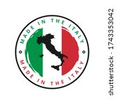 made in the italy vector label | Shutterstock .eps vector #1743353042