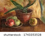 Still Life Oil Painting. Color...