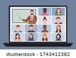 online class. pupils or...   Shutterstock .eps vector #1743412382