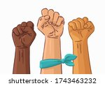 female woman feminism protest... | Shutterstock .eps vector #1743463232