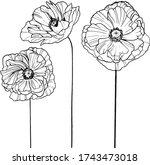 flower vector illustration ... | Shutterstock .eps vector #1743473018