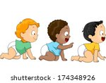 african-american,american,art,asian,babies,black,boys,cartoon,caucasian,children,clip,clipart,crawl,cute,cutout