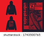 industrial street wear hoodie...   Shutterstock .eps vector #1743500765
