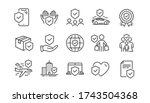 insurance line icons set.... | Shutterstock .eps vector #1743504368