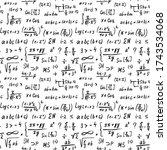 math formulas seamless pattern  ... | Shutterstock .eps vector #1743534068