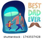 father's day is a fun  friendly ...   Shutterstock .eps vector #1743537428