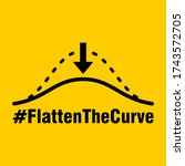 flatten the curve hashtag icon. ... | Shutterstock .eps vector #1743572705