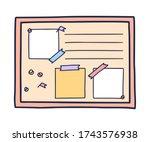 hand drawn doodle illustration... | Shutterstock .eps vector #1743576938