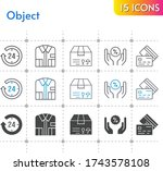 object icon set. included 24... | Shutterstock .eps vector #1743578108