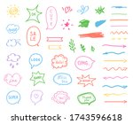 colored outlined elements on... | Shutterstock .eps vector #1743596618